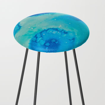 Ephemeral Pools Counter Stool by duckyb