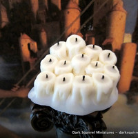 Display of Dripping Candles OOAK Dollhouse Miniature in one inch scale