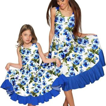 Catch Me Vizcaya Fit & Flare Midi Mother and