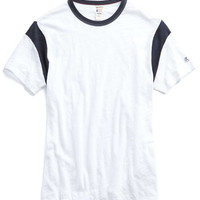 Contrast Detail T-Shirt in White