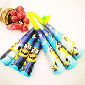 6pcs/set Minions Horns Party Supplies Noise Maker Kids boys Favors festival Baby Shower supplies Happy birthday party Decoration