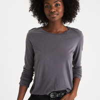 AEO Essential Long-Sleeve T-shirt, Mint