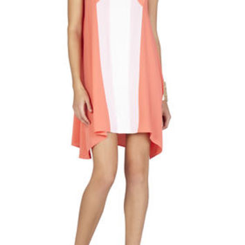 Chantal Crossover Neckline Dress - Pink