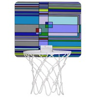 Retro Grid Abstract Mini Basketball Hoop