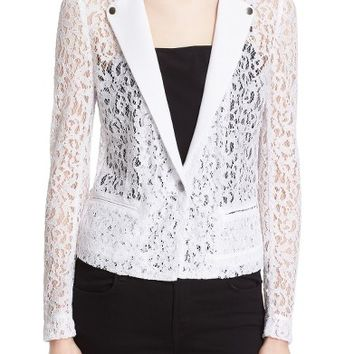 The Kooples One-Button Lace Jacket | Nordstrom