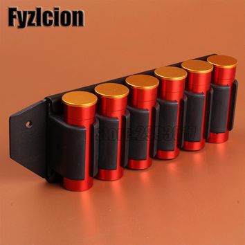 Fyzlcion Hunting Accessories Shotgun Side Saddle For Mossberg 500 590 12 GA 6 Shell Carrier Holder Plate