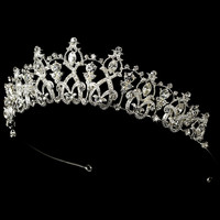 Dazzling Classic Rhinestone Tiara for Wedding and Quinceanera