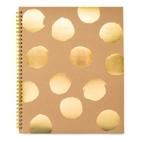 Large Polka Dot Notebook, Kraft