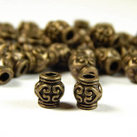 35 Pcs - 7x6mm Tibetan Style Metal Spacer Beads - Vase - Antique Bronze - Spacer Beads - Jewelry Supplies