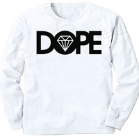 DOPE Diamond JDM Long Sleeve T-Shirt illest OBEY Hype HUF Swag Supreme BBC YMCMB