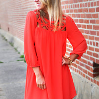Baby Doll Shift Dress {Coral}
