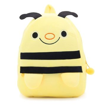 Cartoon 3D Bee Plush Bag Kindergarten Backpacks for 4-6 Years Old Boys & Girls Best Gift,Kids Lovely School Backpack Snacks Bag