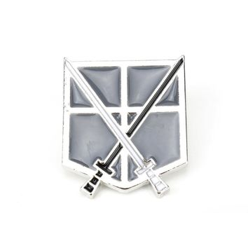 Cool Attack on Titan dongsheng Japan Anime Jewelry  Pins Brooch Legions Badge Unicorn Lapel Pin Brooches For Fans Collection-40 AT_90_11