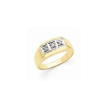 14k Two-tone Gold Diamond Men's Ring SI2/SI3 Clarity and G/I Color