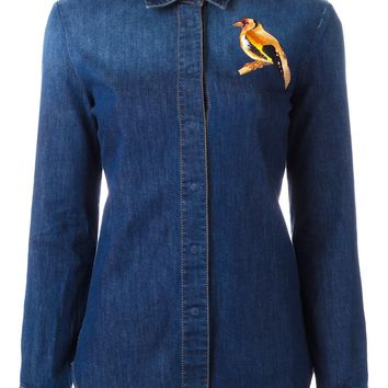 Stella McCartney Embroidered Bird Denim Shirt - Farfetch