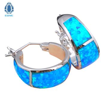 Eove Opal  Earrings Navy Blue Fire Opal Silver Stamp 925 Earrings Fashion Jewelry Gifts for Women