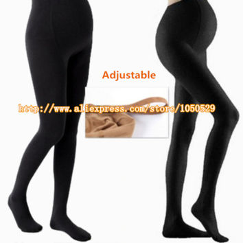 2015 Autumn 300D cotton Adjustable High Elastic maternity leggings pregnant clothes pants for women stockings M164