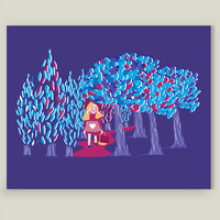 Le chaperon Rouge Art Print by eggy on BoomBoomPrints