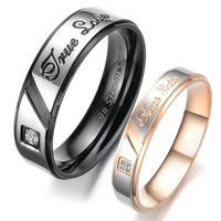 True Love Titanium Steel Couple Rings For Lovers Cheap Engagement Rings = 1930339140