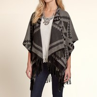Patterned Blanket Top