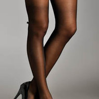 Dreamgirl Oxford Bow Back Lace Thigh Hi 0081 - Dreamgirl Hosiery