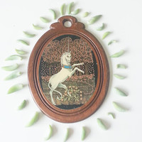 Unicorn Wall Accent- Shabby Chic Decor- Vintage Wood- Room Decor- Home Decor- Boho Decor- Collectible- Unicorn Lot-  Dorm Decor- Bohemian