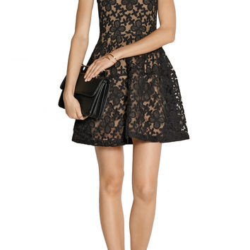 Elvira embroidered organza and cotton-blend dress | Maje | US | THE OUTNET