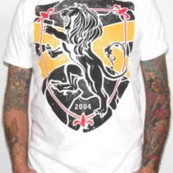Rampant Lion T-Shirt - Black On White