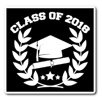 Class of 2018 Vinyl Sticker (Free Shipping)
