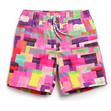 Mens Casual Beach Board Shorts Boxers Trunks Man Bottoms Swimwear Swimsuits Quick Dry Man Jogger