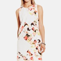 Women's Vince Camuto 'Broken Photo' Floral Print Shift Dress,