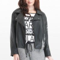 Plus Size Faux Leather Moto Jacket | Fashion To Figure