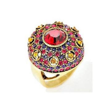 Heidi Daus Infusion Of Color Red Swarovski Ring