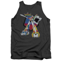 Voltron Blazing Sword Charcoal 100% Cotton Tank-Top T-Shirt