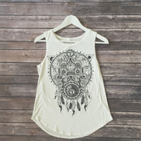 Hamsa Dream Catcher Tank (White)
