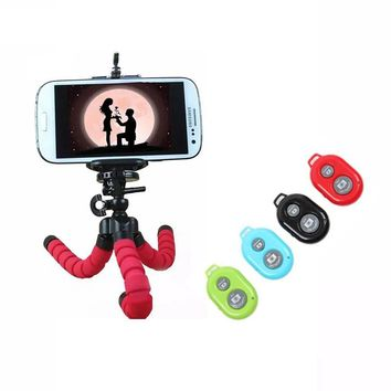 Pro Car Phone Holder Wireless Bluetooth Remote Tripod Octopus Selfie Holder Stand Holder Mount for iPhone Samsung Xiaomi Lenovo