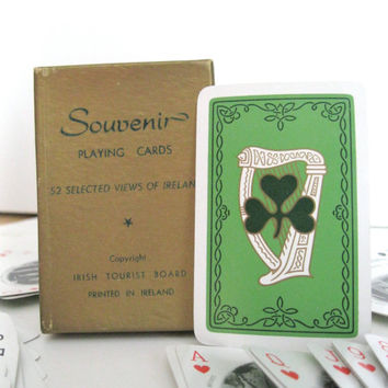 Ireland Souvenir Playing Cards Views of Ireland Black and White Picture Photo Cards Toys and Games