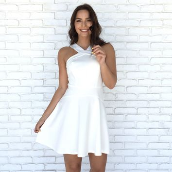 Purity Skater Dress in White