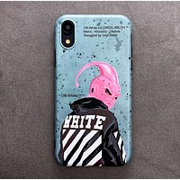 Off White New fashion letter anime people print couple protective cover phone case