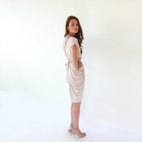 Summer Love Sale...Open Back  Blush Pink Dress by BLUSHFASHION