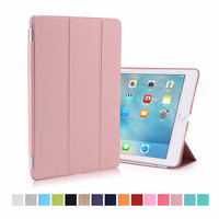 Fashion Ultra Slim Magnetic Front Smart Cover with Matte Transparent Plactic Back Skin Case For iPad Pro 9.7 inch