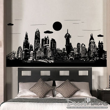 Gotham City Batman - Skyline City Buildings - Vinyl Wall Decal Sticker