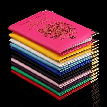 ForeverFriends British Passport Holder Cover PU Lear ID Card Fashion Travel s passport Covers passport for England