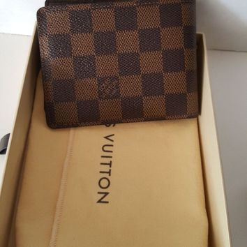 Authentic Louis Vuitton Multiple Damier Graph Men's Wallet Purse