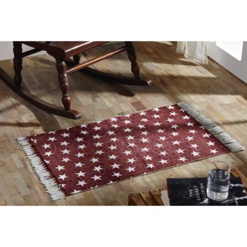 Multi-Star Red - Cotton- Rectangle - 20 x 30 - Rug