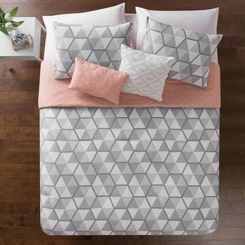 Vercher Reversible Comforter Set