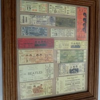 15 BEATLES concert  tickets framed reproduced in by dustylorraine