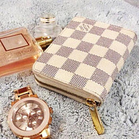 LV Louis Vuitton Fashion Clutch Bag Single Zipper Wristlet Wallet Purse I