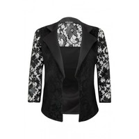 Black Lace Back Jacket