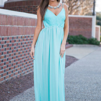 Making Your Love Maxi Dress, Mint